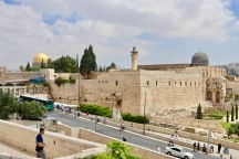 Dome of the Rock (left) and Al-Aqsa Mosque (right)